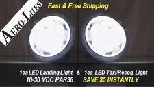 LED Landing & Taxi Light SET for Aircraft PAR 36 10-30 Volt