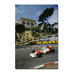 Y-173 New Ayrton Senna F1 Formula Silk Poster Custom Print