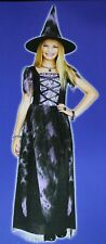 NEW GIRLS MED 8 10 PURPLE WITCH HALLOWEEN COSTUME DRESS TOTALLY GHOUL