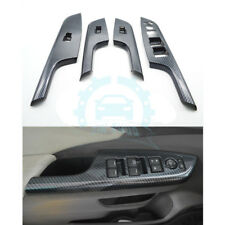 4Pcs For Honda CRV CR-V 2012-16 Carbon Fiber Window Control Panel Cover Trim re