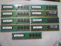 LOTOF 9 GENUINE SAMSUNG 1RX8 PC2-4200U-444-12-D3 512MB P/N 355951-888 MEMORY RAM
