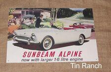 SUNBEAM ALPINE tin SIGN new vintage 1960 advert METAL ART classic retro car ad