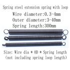 1pcs Extension spring with loop Wire dia 0.3mm-4mm Outer dia 3-40mm Length 300mm
