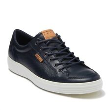Ecco Men's Soft 7 Tie Sneaker Perf Leather Comfort Oxford Shoe Marine