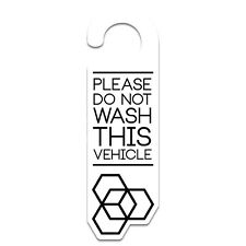 Carbon Collective White Do Not Wash Sign Decal Sticker Detailing 1st Class P&P