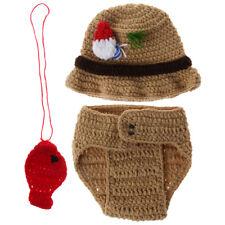 1 Set Baby Photography Props Costume Fisherman Woolen Knitted Newborn Photo Shot