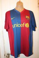 NIKE FC BARCELONA Futbol Soccer #8 Spain Home Shirt Jersey Men's Large 2006/07