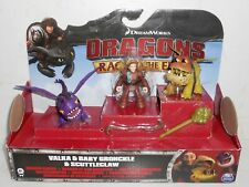 Brand New Spin Master DreamWorks Dragons: VALKA & BABY GRONCKLE & SCUTTLECLAW 4+