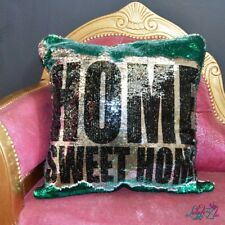 Home Sweet Home Sequin Cushion | Home Warming Gifts | New Home | Mermaid Cushion