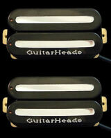 Guitar Parts GUITARHEADS PICKUPS MEGAMETAL HUMBUCKER - Bridge Neck SET 2 - BLACK