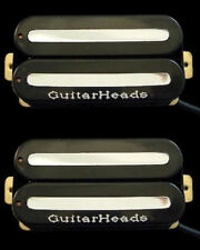 Guitar Parts GUITARHEADS PICKUPS MEGAMETAL HUMBUCKER - Bridge Neck SET 2 - BLACK