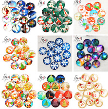 HOT 20pcs Round Glass Christmas cabochons patch gem Setting Accessorie 10-30MM