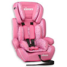 Autokindersitz Autositz Kinderautositz mit Extrapolster 9-36kg Gruppe 1+2+3 Rosa