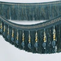 1M Curtain Tassel Sewing Fringe Beaded Trimming Home Crafts Garment Upholstery