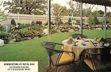 Shoreview MN~Outdoor Dining~Summertime at Royal Oak~Tall Picket Fence~1960s