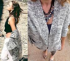 ZARA size M Pince Cardigan Knit Jacket Pockets Oversize Cardigan Veste