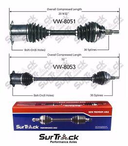 For Volkswagen Golf Jetta Set of 2 Front Axle Shaft Assemblies VW-8051 VW-8053