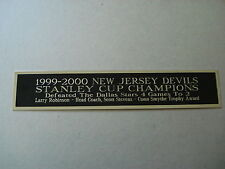 New Jersey Devils 1999-2000 Stanley Cup Nameplate For A Hockey Stick Case 1.5X8