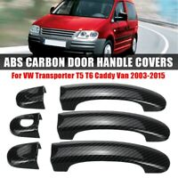 6X Türgriffe Abdeckung Deckel Carbon ABS Für VW Transporter T5 6 Caddy Caravelle