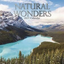 2021 Wall Calendar  Natural Wonders, 16-Month, with 180 Reminder Stickers