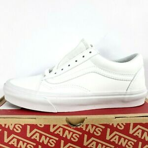 VANS Old Skool Classic White Sneaker Mens Size 5 Women Size 6.5 Shoes Lace Up
