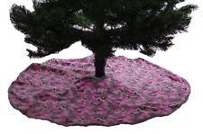"""Christmas Camo Camouflage Hunting Xmas Tree Holiday 40"""" Skirt Pink Fleece NEW"""