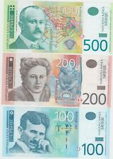 More details for six serbia 10 to 500 dinara banknotes 2005 to 2013 in mint condition.