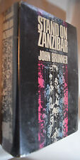 John Brunner Stand on Zanzibar 1st Frist edition ex-lib Hugo Winner Doubleday
