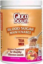 GLUCODOWN, Diabetic Formula Tea Mix, 60-Day Supply. Peach