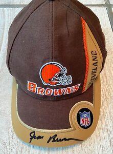 Jim Brown Signed Cleveland Browns PUMA NFL Pro Line Adjustable Leather Cap Hat