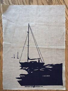 Marushka Screen Print Sailboats Original Screenprint Unframed 1979