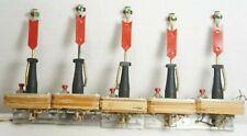 "Custom Made O Scale Manual Green/Red 3.5"" Inch Switch Signal Machine Lanterns x5"