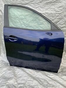 2013 MAZDA CX-5 D DRIVER SIDE RIGHT OFFSIDE O/S/F FRONT DOOR IN BLUE