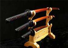 1095 CARBON STEEL RED JAPANESE SAMURAI SWORD SET ( KATANA + WAKIZASHI +TANTO)