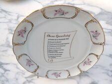Assiette porcelaine Le diner de St Sylvestre 1964 menu Chesa Guardalalej