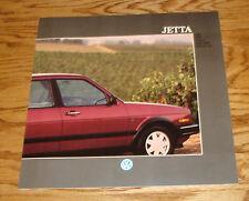 Original 1988 Volkswagen VW Jetta Deluxe Sales Brochure 88