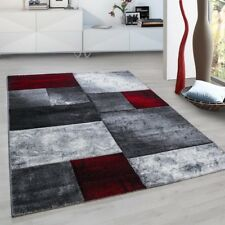 eff55e2cbea Geometric Rug Red Black Grey Check Pattern Mat Small X Large Runner Area  Carpets