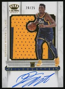 2017-18 Panini Crown Royale Silhouettes Donovan Mitchell RPA RC Patch AUTO 20/25