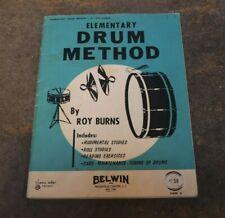 """Elementary Drum Method"" Drum Instructional Book by Roy Burns"