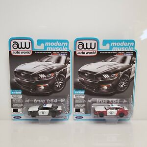 Rare Auto World Modern Muscle 2017 Ford Mustang GT Set Ultra Red Chase 1 Of 165