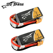 2 Tattu 1300mAh 3S1P 11.1V 75C/150C Lipo Batteries XT60 Connector For Drones FPV