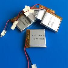 5 pcs 3.7v 450mAh LiPo Li-Polymer Battery for MP3 MP4 Speaker Smart Watch 503030