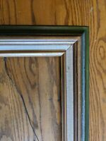 MID-CENTURY MODERN VTG GREEN GOLD WOOD PICTURE FRAME 18x24/29x23 PAINTING ART