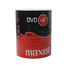 Maxell DVD-R 100 Pack Shrink Pack 16x 4.7GB Blank DVDs Media Disks