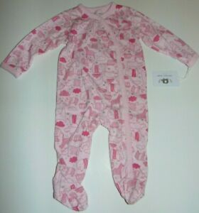 ~NWT Girls EMPORIO BABY Zoo Animals Footed Pajamas! Size 6-9 Months Cute:)*