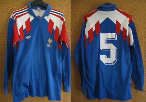 Maillot EQUIPE DE FRANCE Mondial 1990 Vintage #5 Adidas Bleu - S