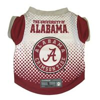 Alabama Crimson Tide NCAA Licensed Dog Pet Performance Tee Sizes XS-XL