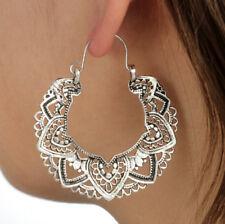 Women's Indian Earrings Dangle Drop Lotus Flower Classic Totem Chic Earring