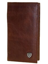 Ariat Mens Western Rodeo Wallet/Performance Work/11 Credit Card/Leather/Brown