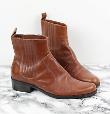 DUNE Classic Tan Brown Leather Chelsea Dealer Ankle Boots Size 37, UK 4